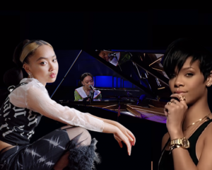 """Singer Griff covers Rihanna's """"Take A Bow"""" at BBC's Radio 1 Piano Session (January 10 2021)"""