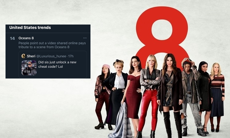"TikTok-video gets ""Ocean's Eight"" on the United States Twitter Trending Topics List (January 9 2021)"
