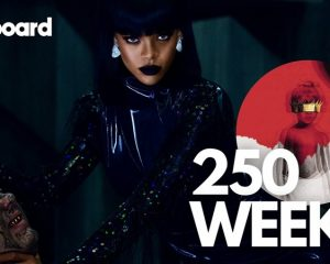 "Rihanna's ""ANTI"" spending its 250th week charting on the Billboard 200 (week of January 16 2021)"