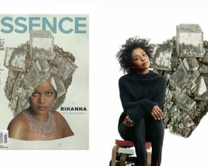 "Rihanna faces American ""Essence"" magazine (Jan/Feb 2021 issue) shot by Lorna Simpson"